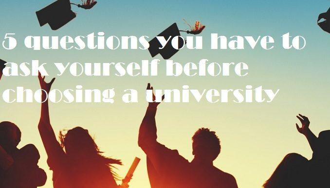 choosing a university
