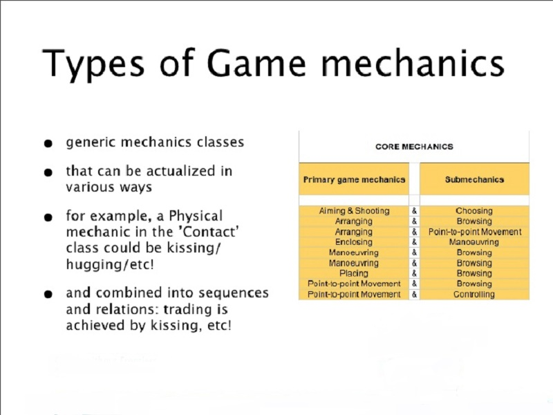 Types of Game mechanics
