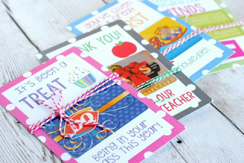 Teacher Gift Card Ideas