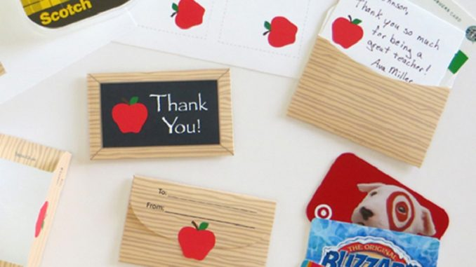 teacher gift card ideas