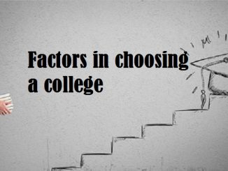 factors in choosing a college