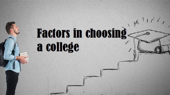 factors in choosing a college