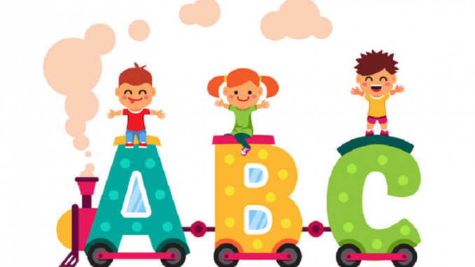 How to teach a child to write English alphabets