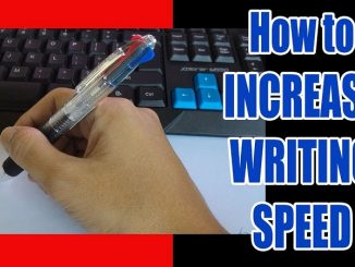 How to improve writing speed for examination