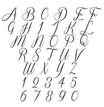 Cursive letter templates