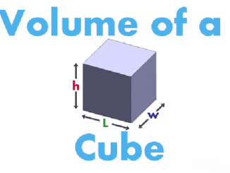 How to find volume of cube