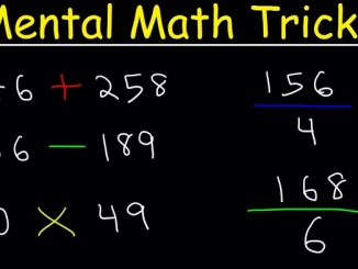 Mental calculation tricks