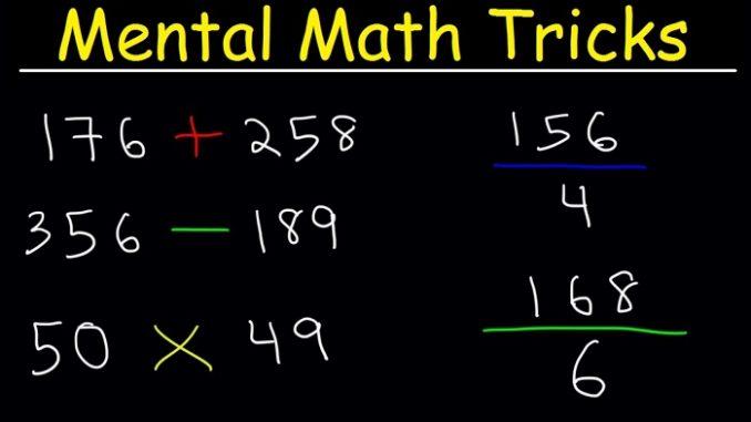 Mental calculation tricks